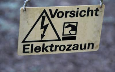 Der Elektrozaun um uns herum